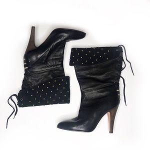 Chloe Foldover studded boots 39